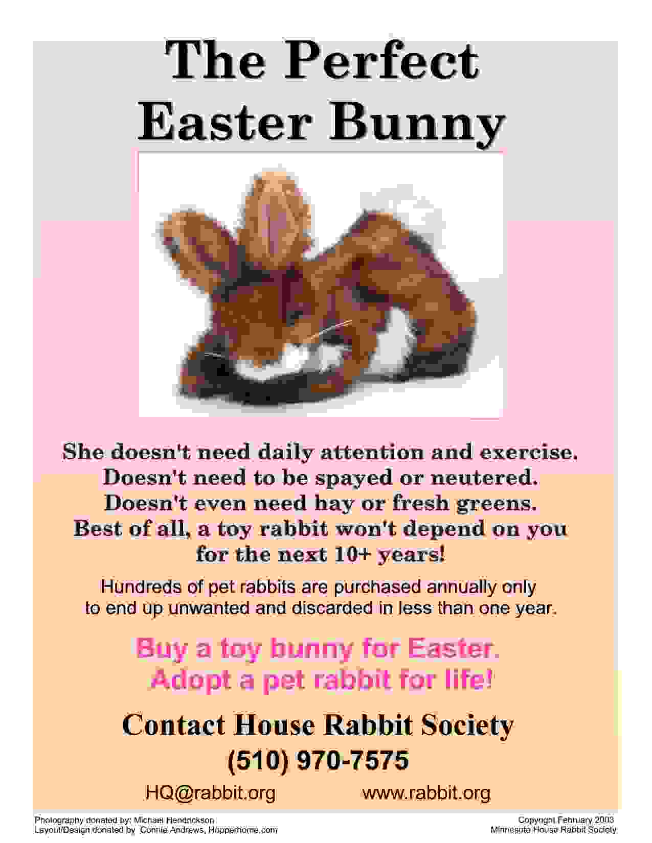 flyers for easter and bunnies don t mix house rabbit society