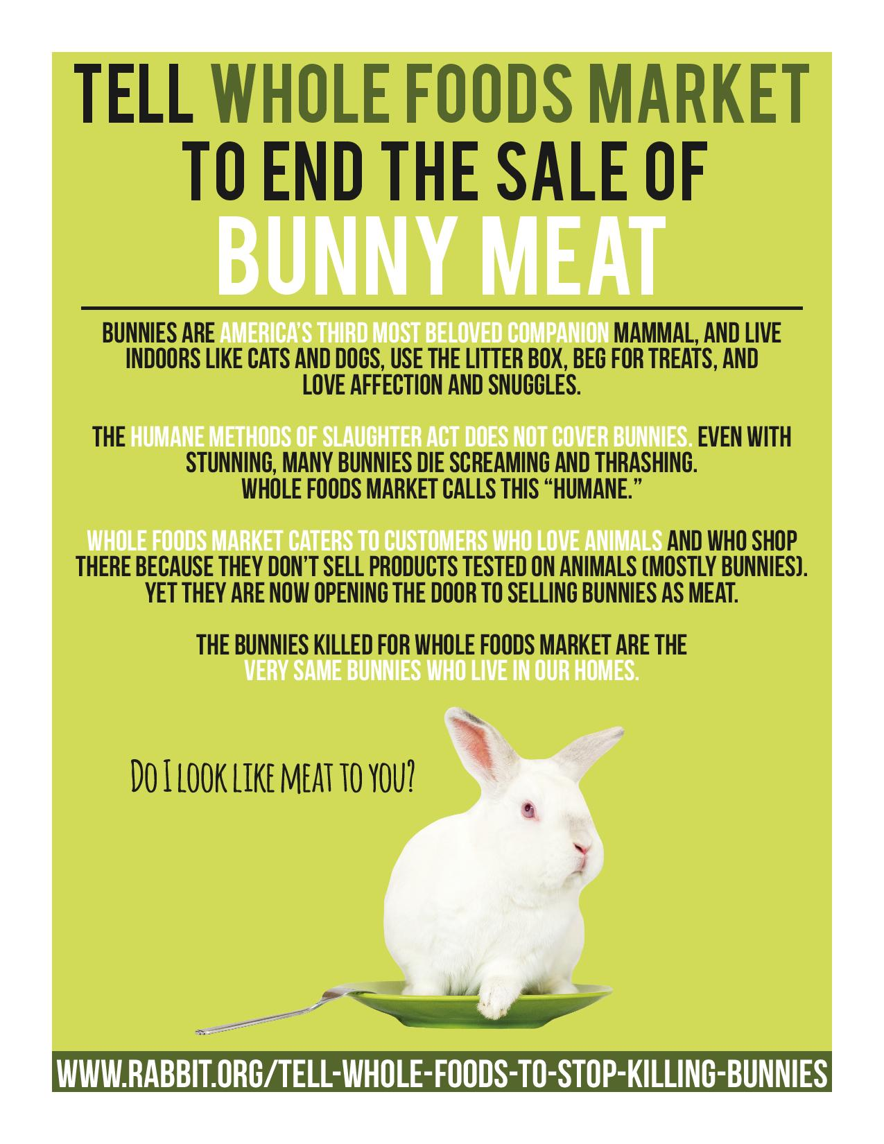Day of Action Focused on Whole Foods: August 17 | House Rabbit Society