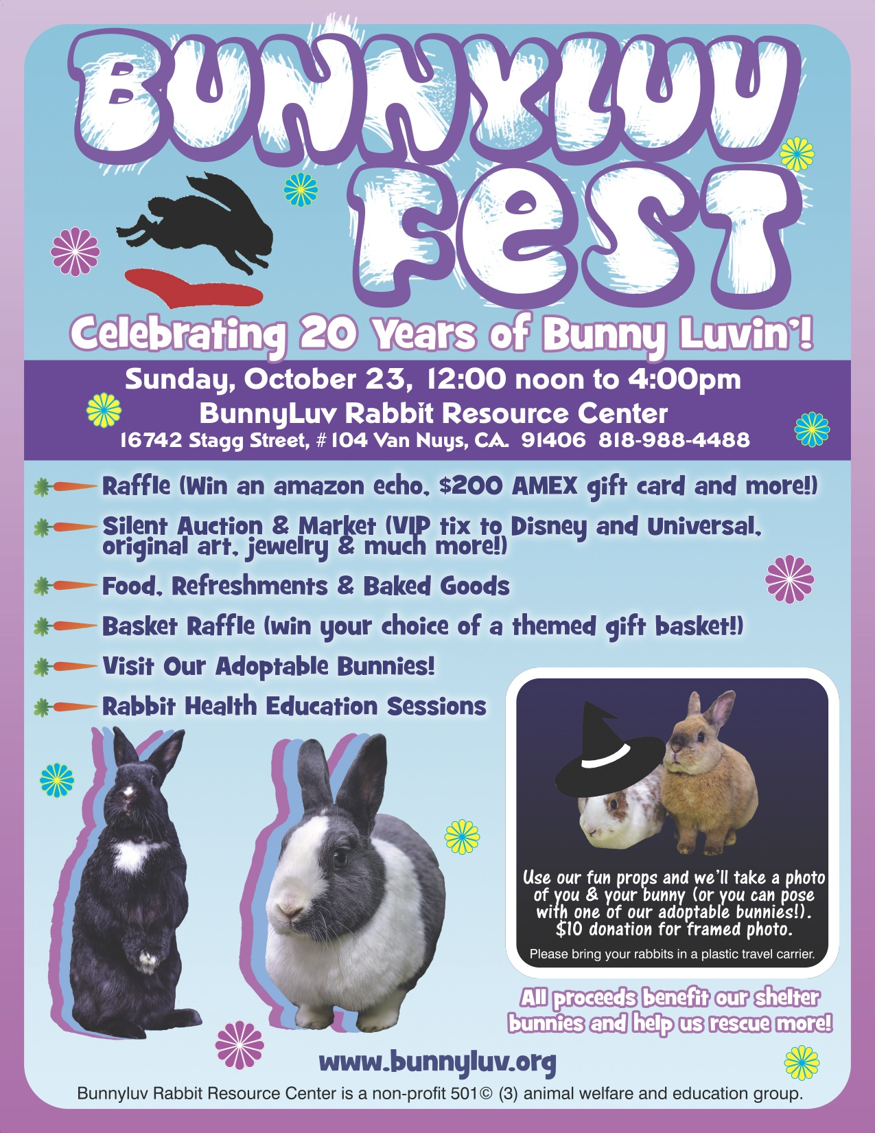 BunnyLuv, the LA Valley Chapter of HRS, is Celebrating!