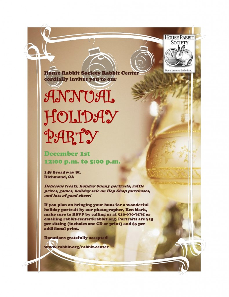 Please join us for our Annual Holiday Party on Dec. 1st ...