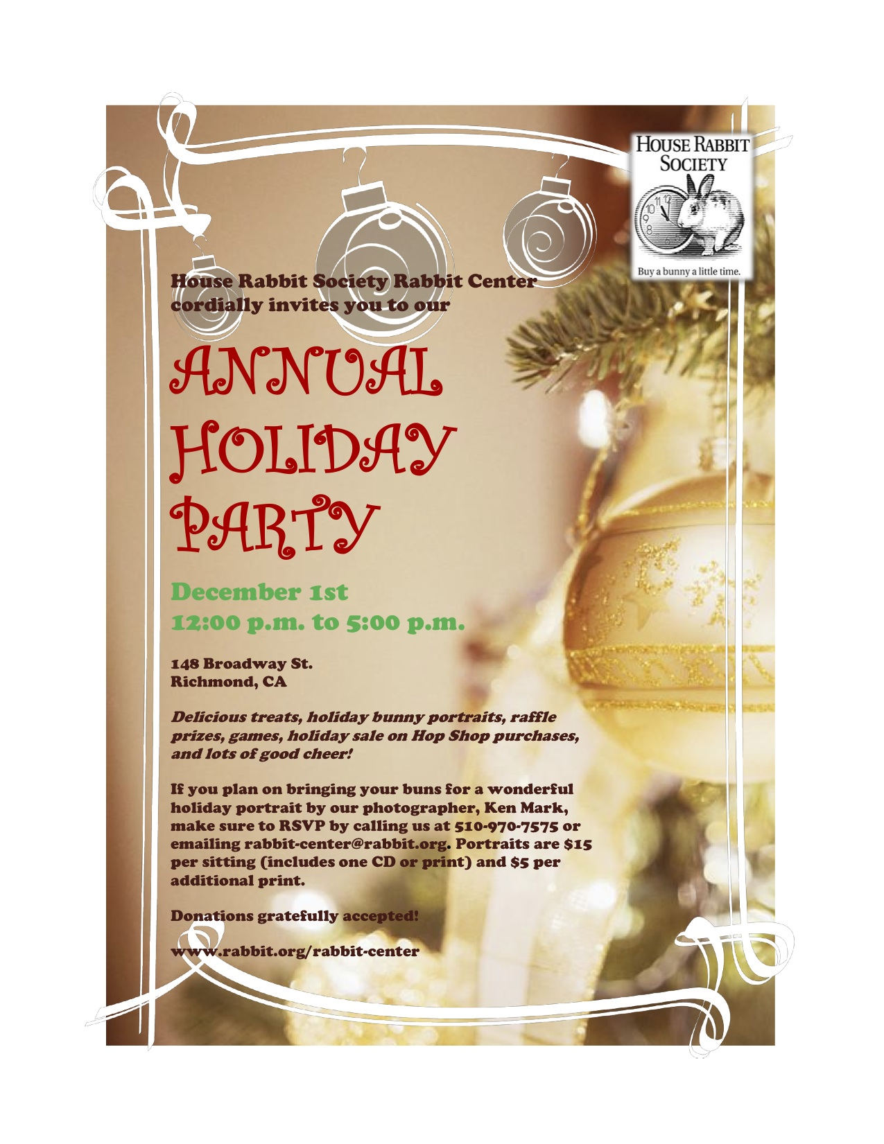 Holiday party invitation-1 | House Rabbit Society Adoption and ...