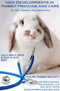 New Developments in Rabbit Medicine and Care with Dr. Scheenstra @ House Rabbit Society | Richmond | California | United States
