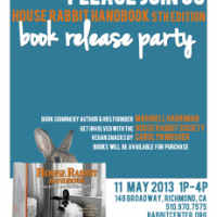 May 11th Book Release Party! House Rabbit Handbook, FIFTH edition!