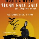 Halloween Vegan Bake Sale & Adoption Event, October 31st