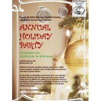 Please join us for our Annual Holiday Party on Dec. 1st from 12 – 5 p.m.